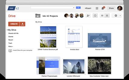 google business email storage