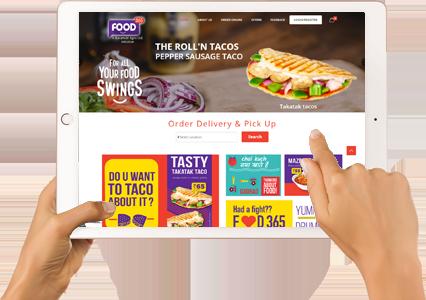 quick service restaurant website development